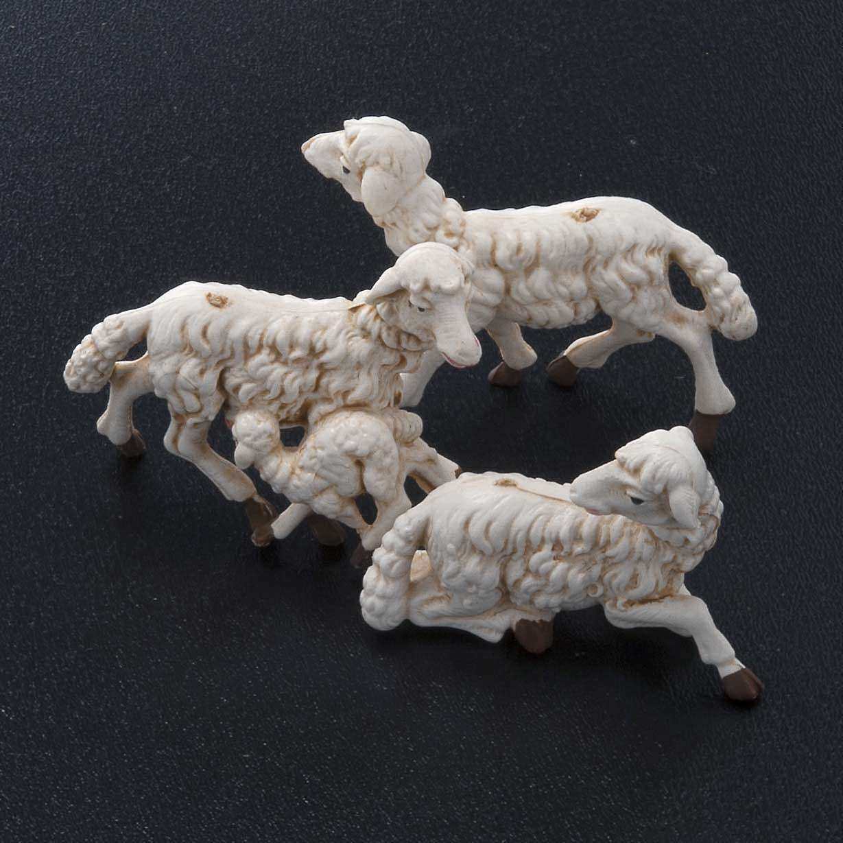 Nativity scene figurines, sheep 10 pieces 10 cm 3