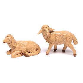 Pecore presepe plastica marrone 4 pz. 12 cm s2