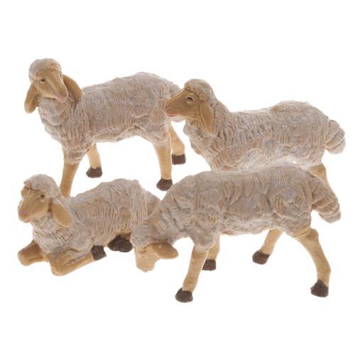 Pecore presepe plastica marrone 4 pz. 20 cm 1