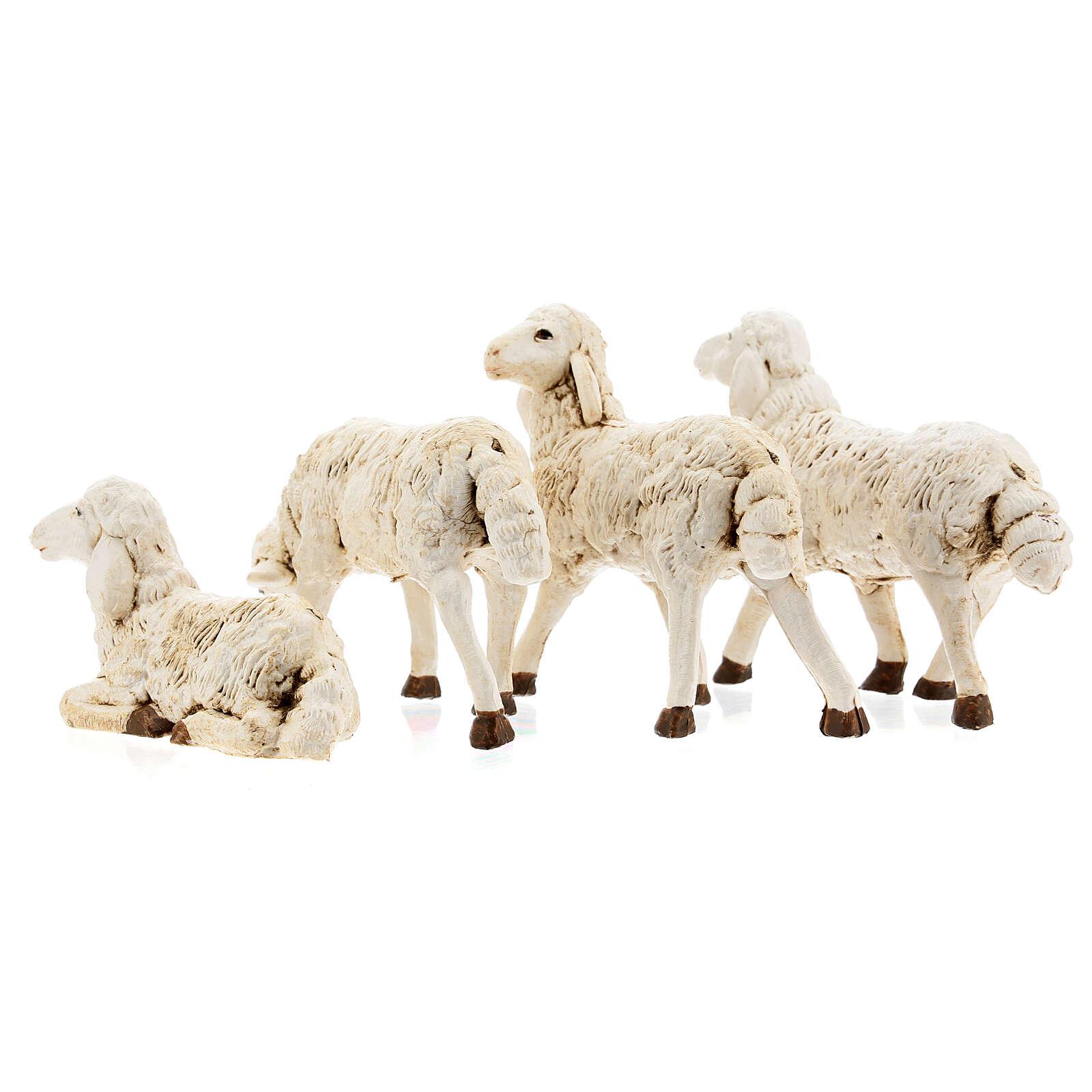 Nativity scene figurines, plastic sheep, 4 pieces 20cm 3