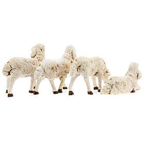 Nativity scene figurines, plastic sheep, 4 pieces 20cm s6