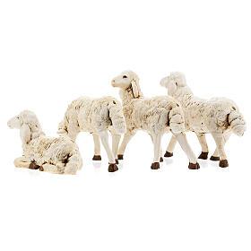 Nativity scene figurines, plastic sheep, 4 pieces 20cm s7