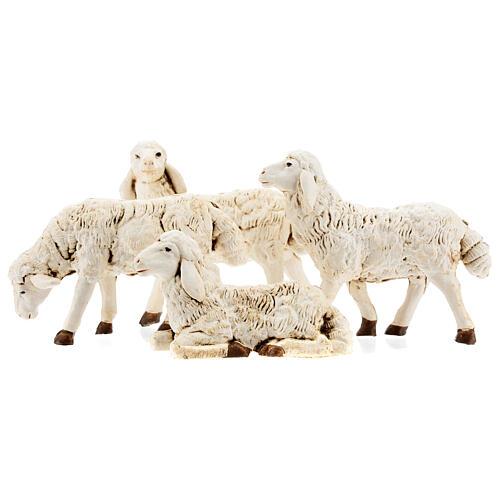 Nativity scene figurines, plastic sheep, 4 pieces 20cm 1