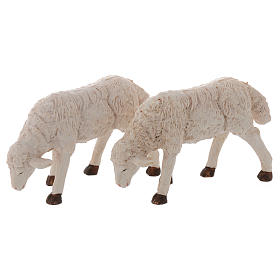 Pecore presepi plastica assortite 4 pz. per pastori di 20 cm s3