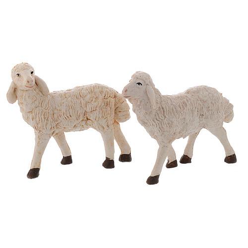 Pecore presepi plastica assortite 4 pz. 20 cm 2