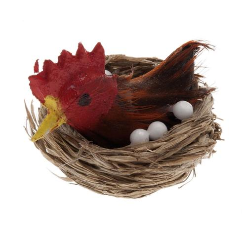 Nativity figurine, hen brooding for do-it-yourself nativities 1