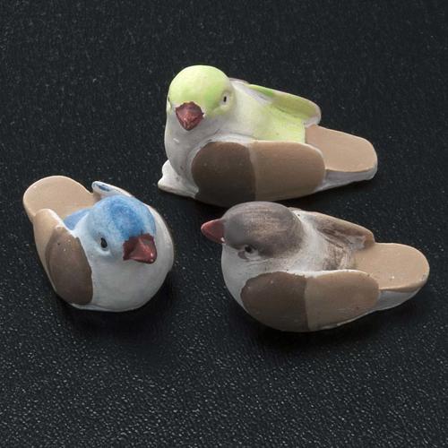 Oiseaux miniatures crèche noel 12 cm 3 pcs 2