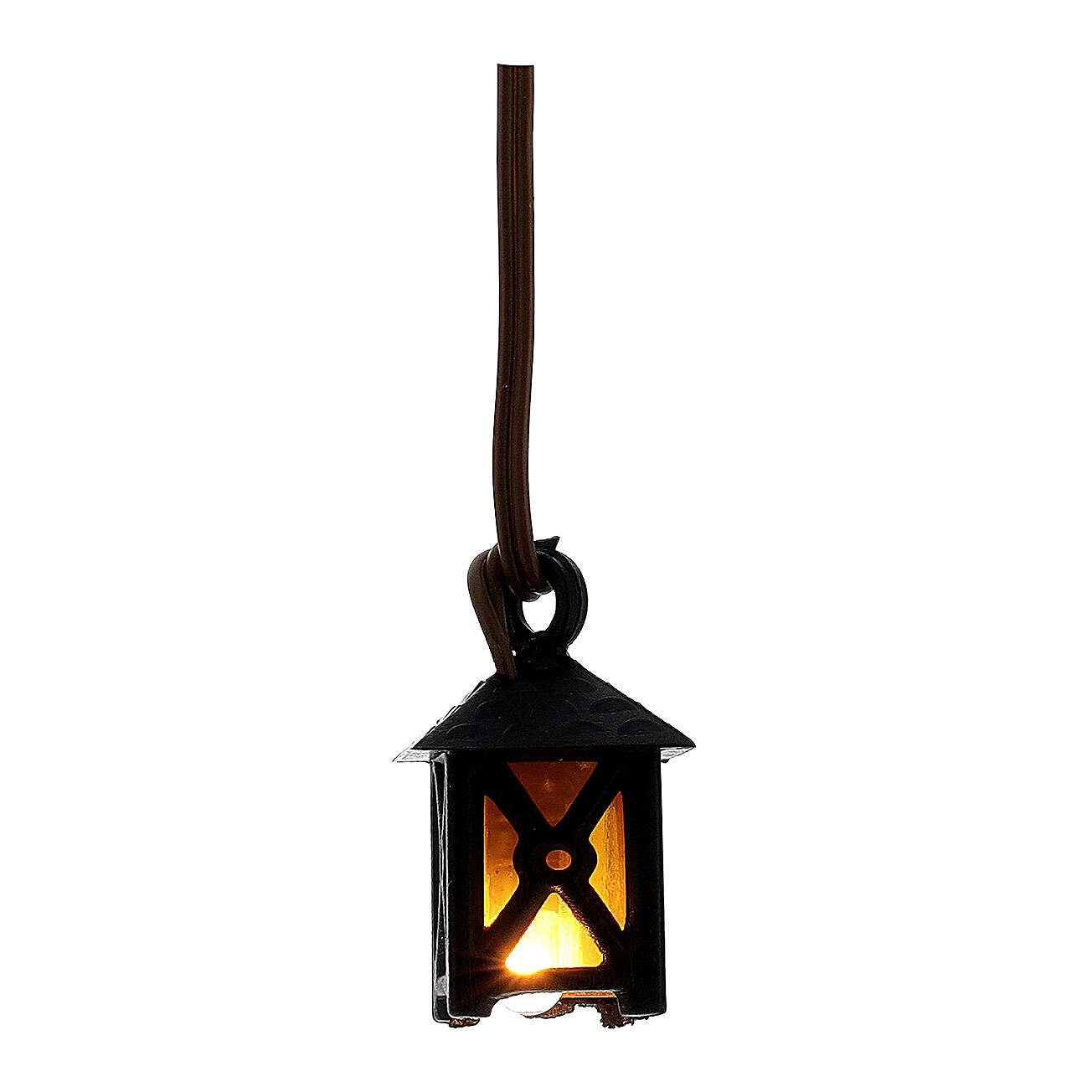 Laterne für Krippe mit gelbem Licht niedrige Spannung 4