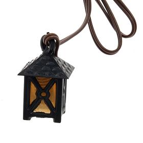 Lantern for nativities with yellow light, low voltage s1