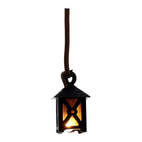 Lámpara con luz amarilla de bajo voltaje para el pesebre 1