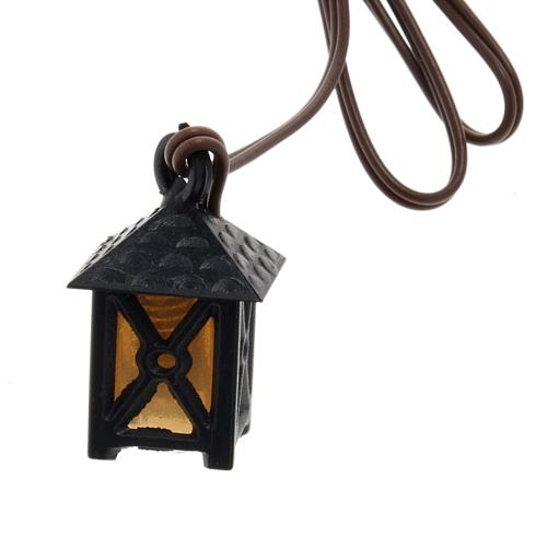 Lantern for nativities with yellow light, low voltage 1
