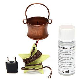 Gerador de fumaça para presépio com frasco 4,5V s3