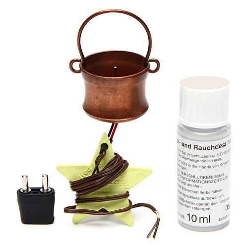 Gerador de fumaça para presépio com frasco 4,5V 3