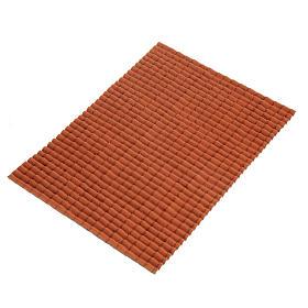 Accessoires maison en miniature: Accessoire crèche plaque pour toit en tuiles