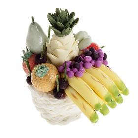 Comida em Miniatura para Presépio: Cesta com fruta e bananas presépio