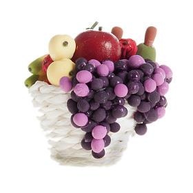 Cesto con frutta e uva presepe fai da te s1