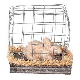 Coniglio in gabbia presepe 10 cm s3
