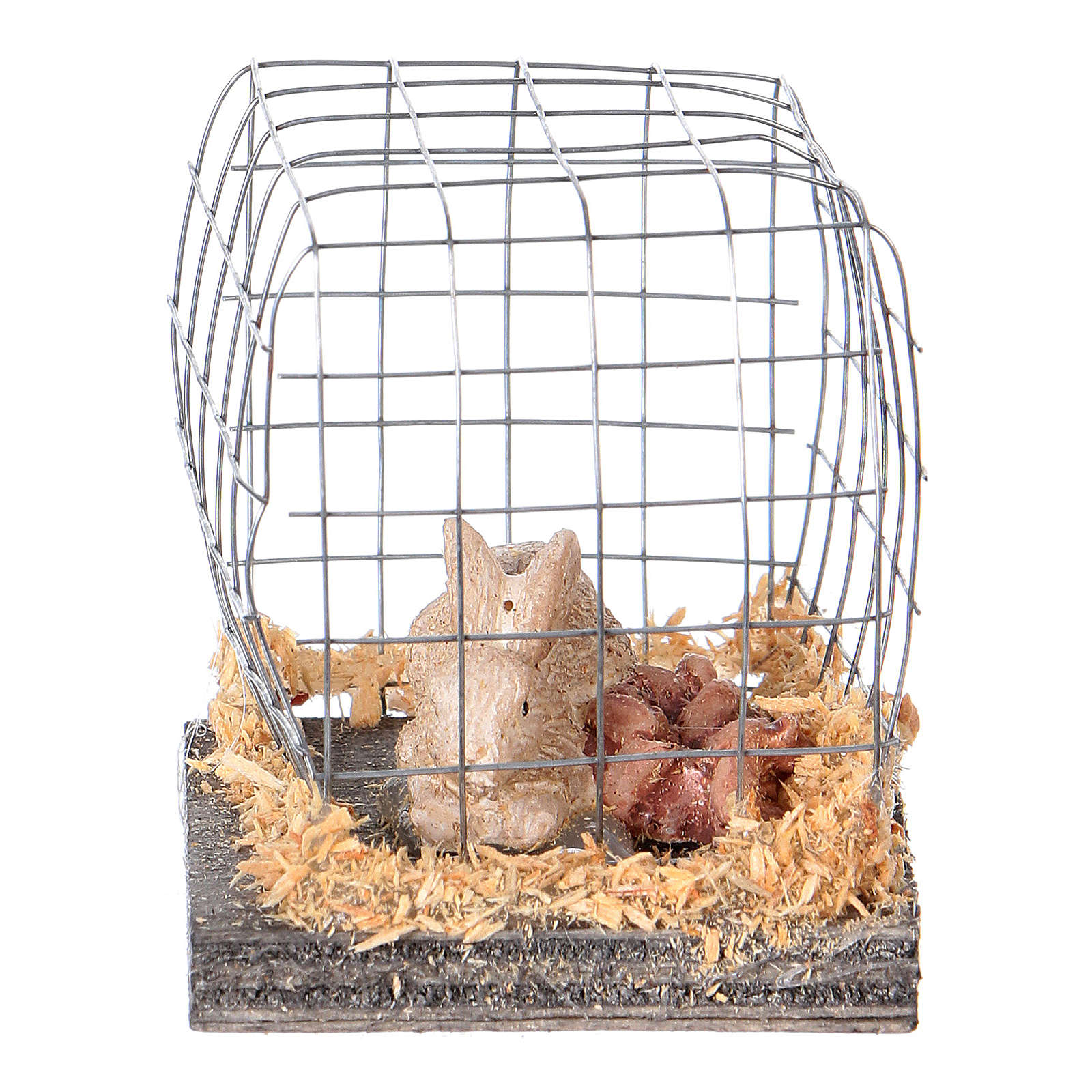 Nativity figurines, rabbit in cage 3