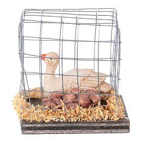 Miniature oies en cage crèche noël s1