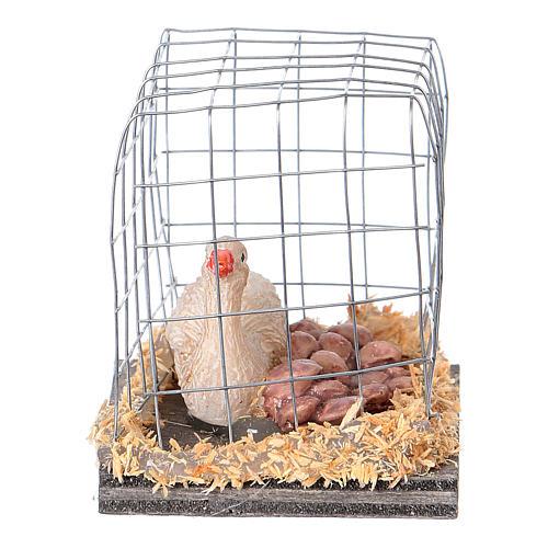 Miniature oies en cage crèche noël 2