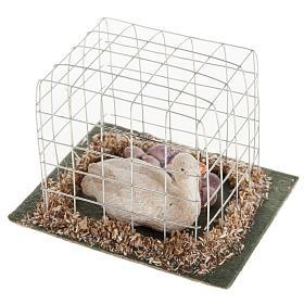 Oca in gabbia presepe 10 cm s2
