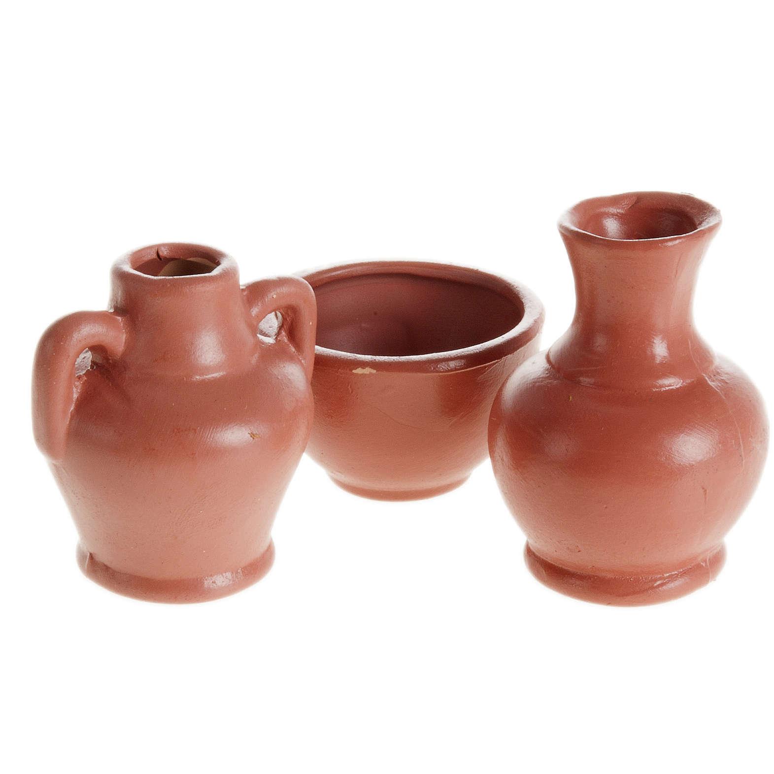 Accessoire crèche amphores et vases résine 3 pc 4
