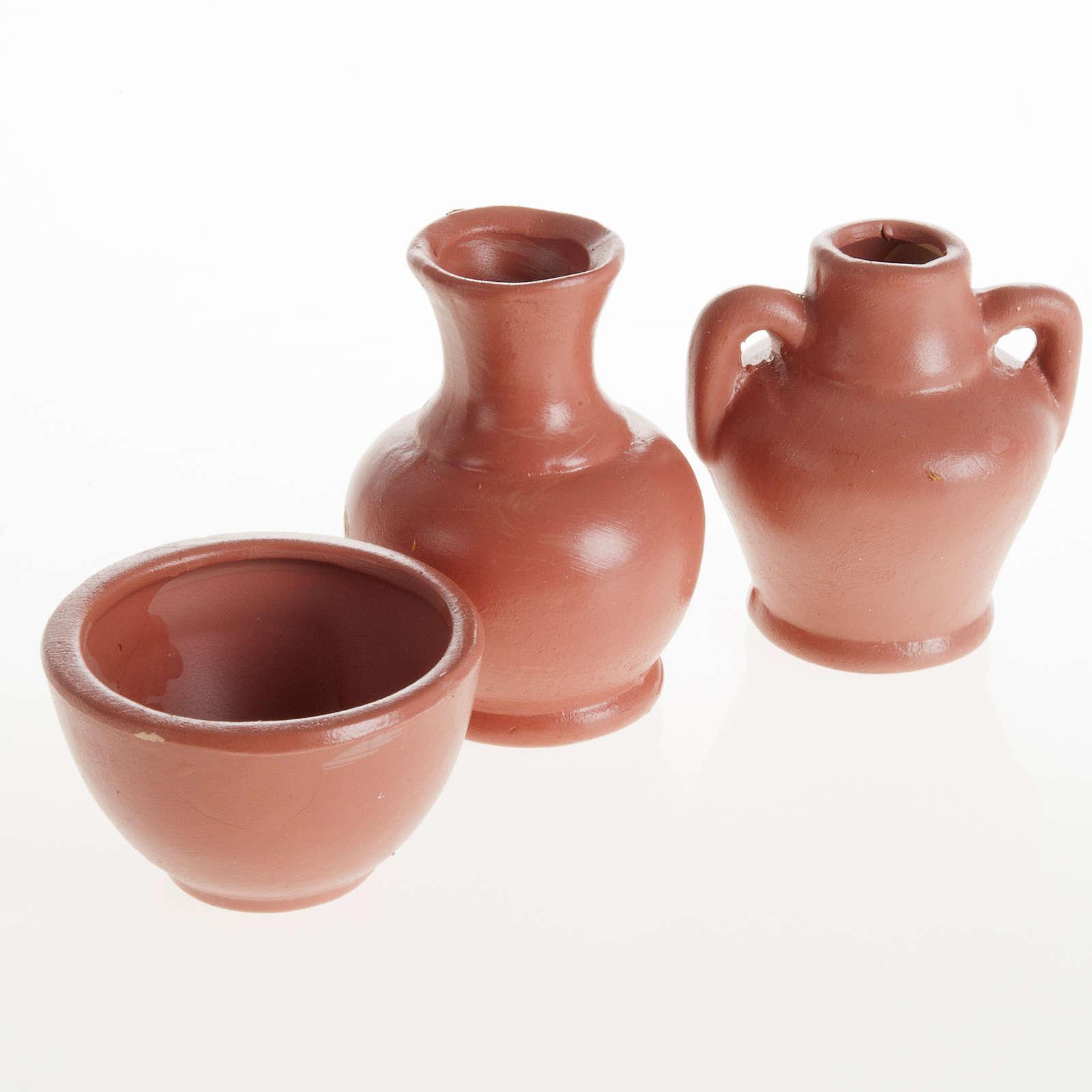 Anfore e vaso resina 3 pz. 4