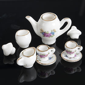 Nativity accessory, coffee and tea set in porcelain s5