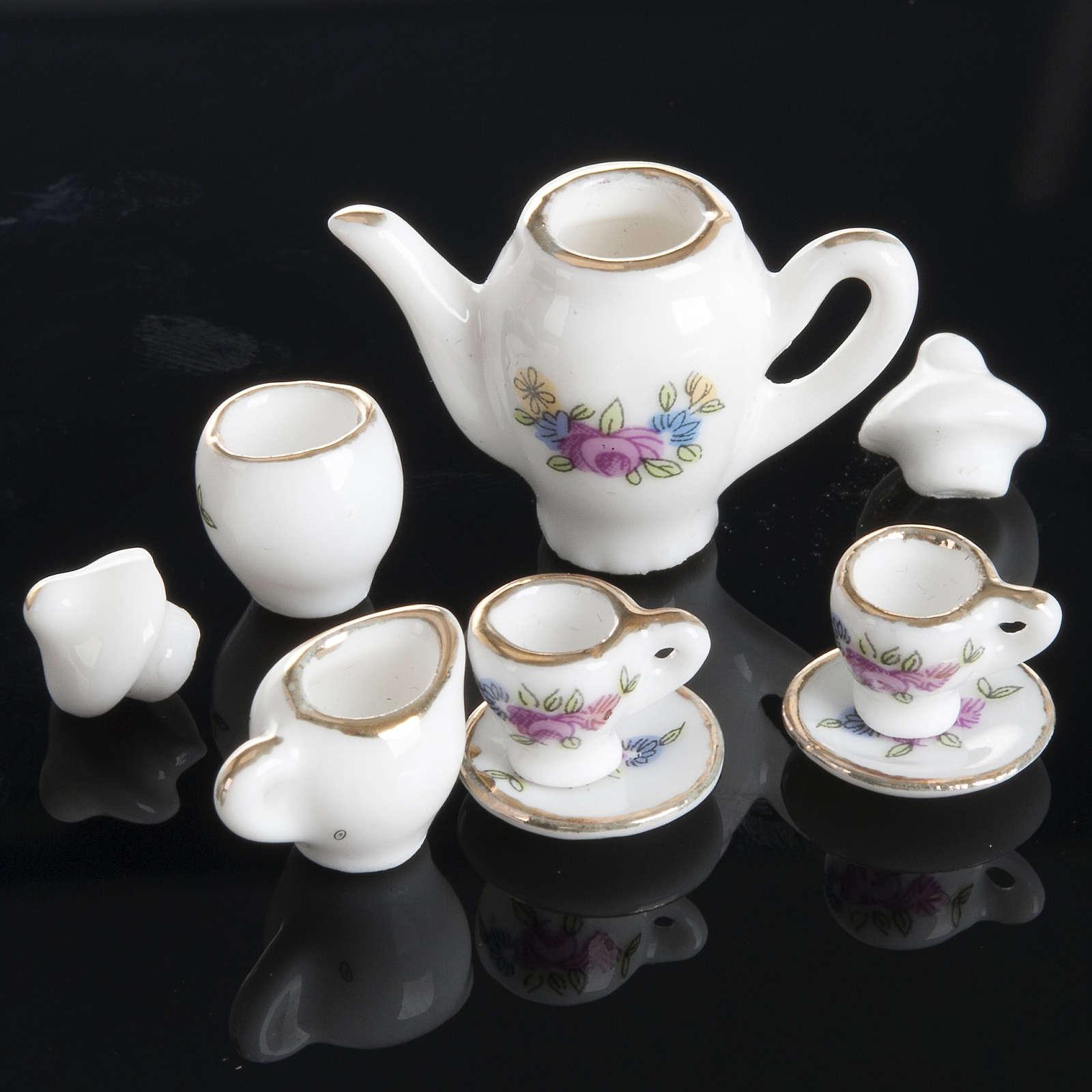 Servizio da caffè e tè miniatura presepe 4