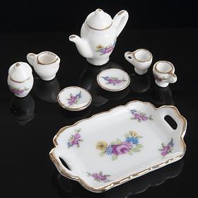 Servizio da caffè e tè miniatura presepe s3