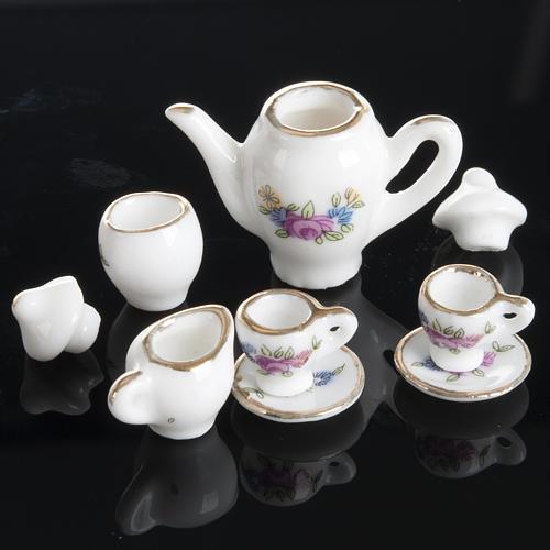 Servizio da caffè e tè miniatura presepe 5
