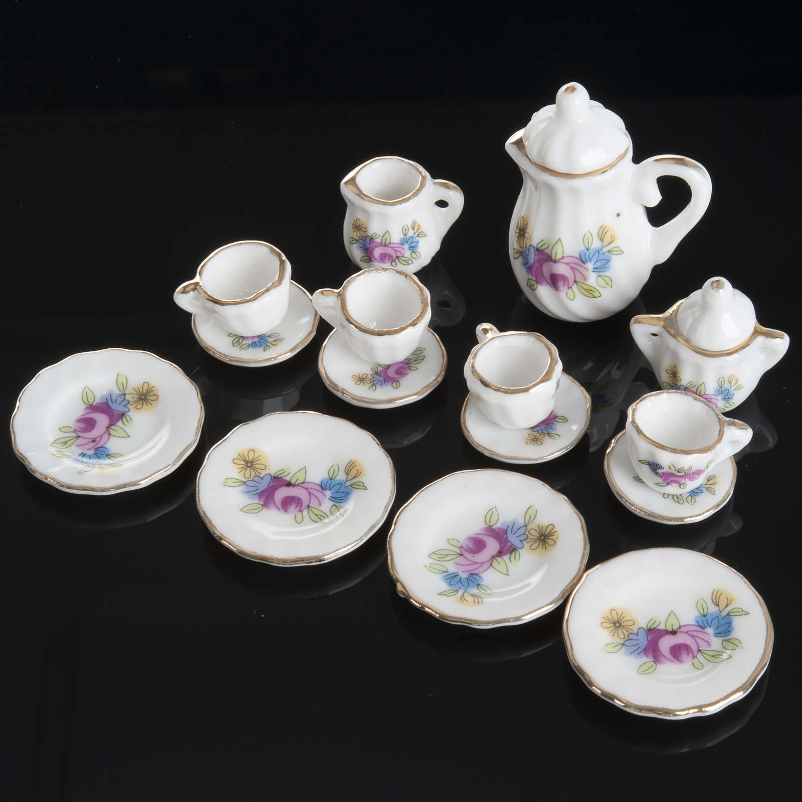 Servicio de té miniatura belén 4