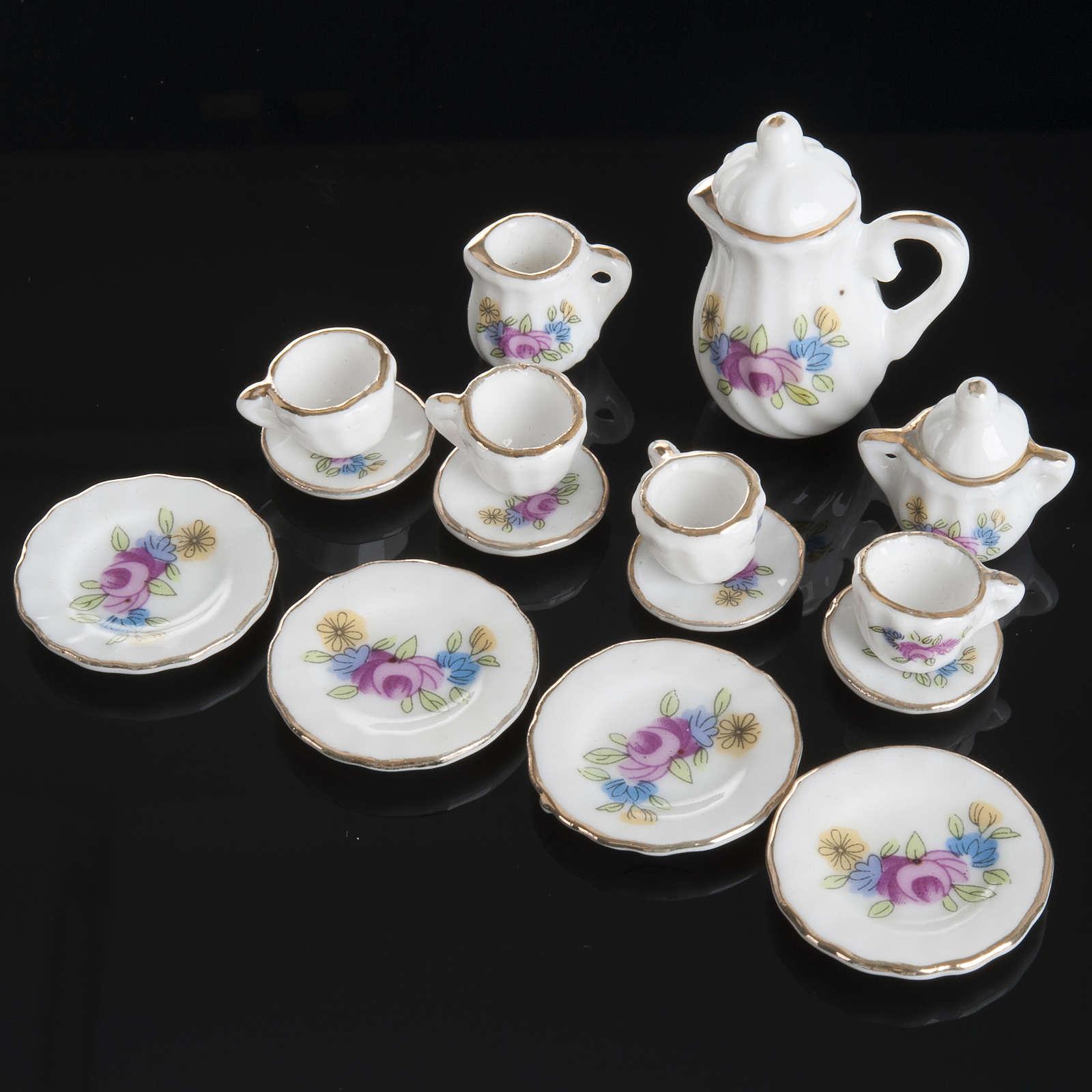 Servizio da thè porcellana miniatura presepe 4