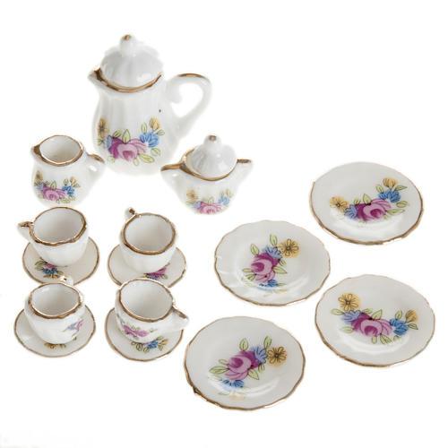 Servizio da thè porcellana miniatura presepe 1