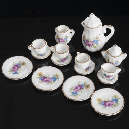 Servizio da thè porcellana miniatura presepe 2