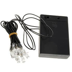 Lichter und Laterne für Krippe: 10 Led Lichter mit Batterien