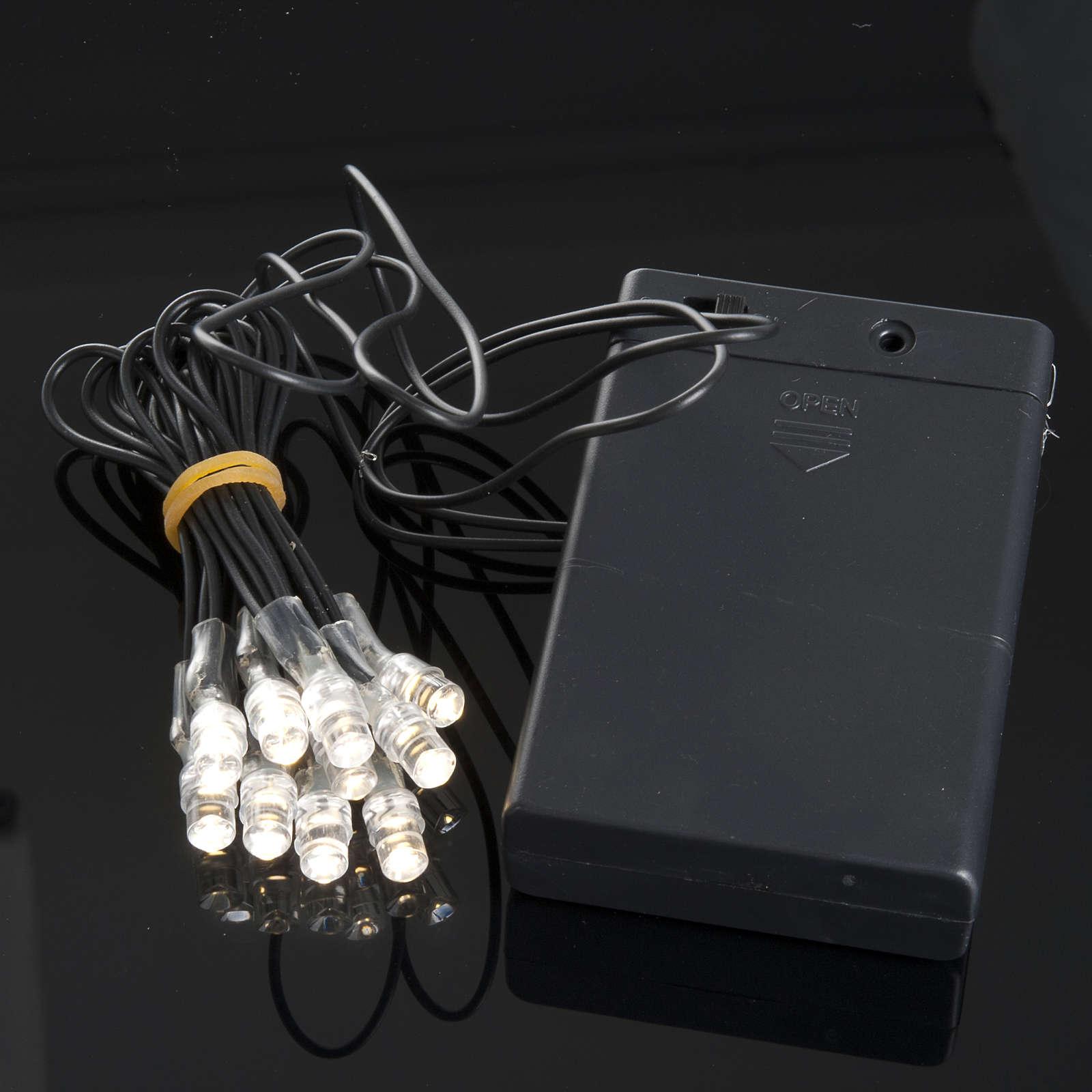 10 Bombillos LED a batería para el pesebre 4