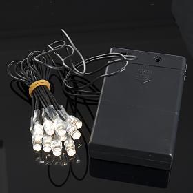 10 Bombillos LED a batería para el pesebre s2