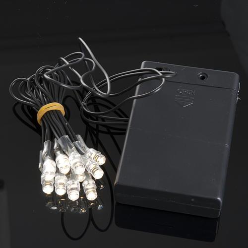 10 Bombillos LED a batería para el pesebre 2