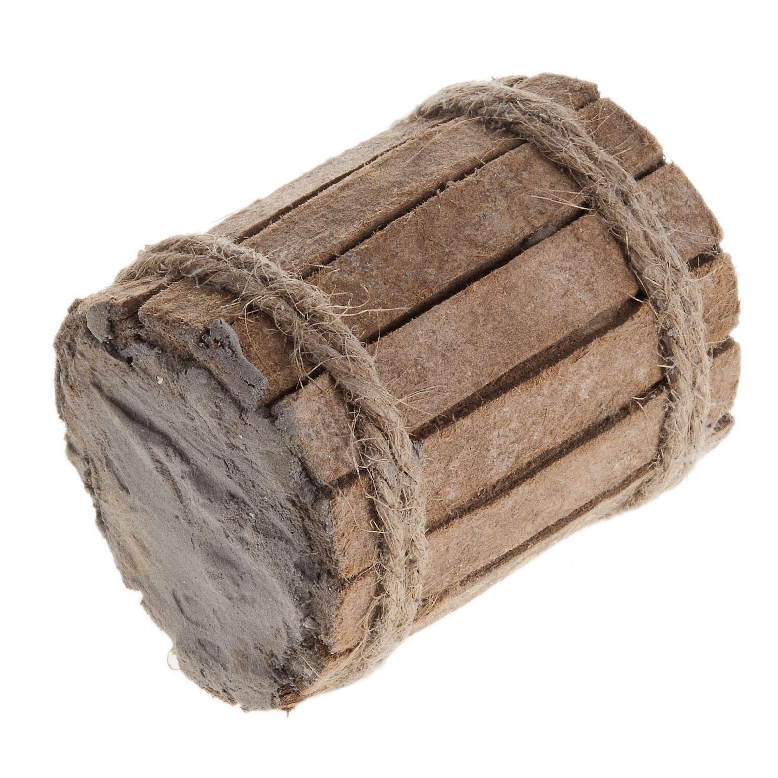 Beczka drewno szopka 4