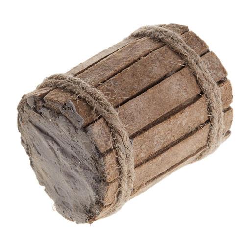 Beczka drewno szopka 1