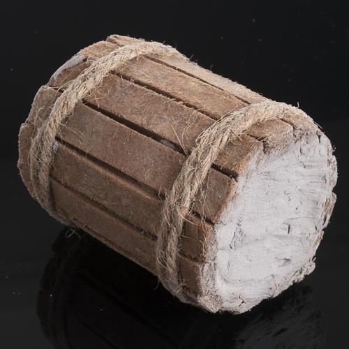 Beczka drewno szopka 2