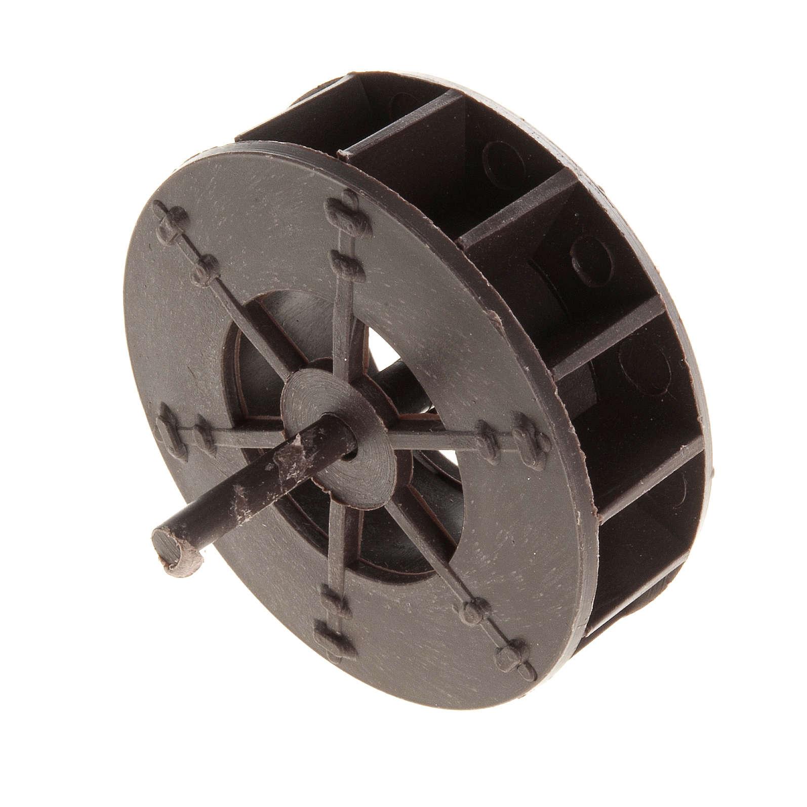 Mini roue moulin à eau 5 cm crèche 4