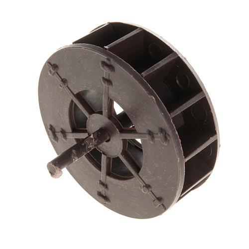 Mini roue moulin à eau 5 cm crèche 2