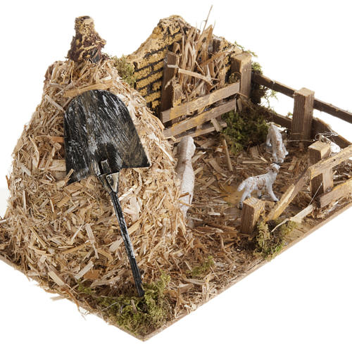 Nativity scene, sheepfold and sheaf of straw 2