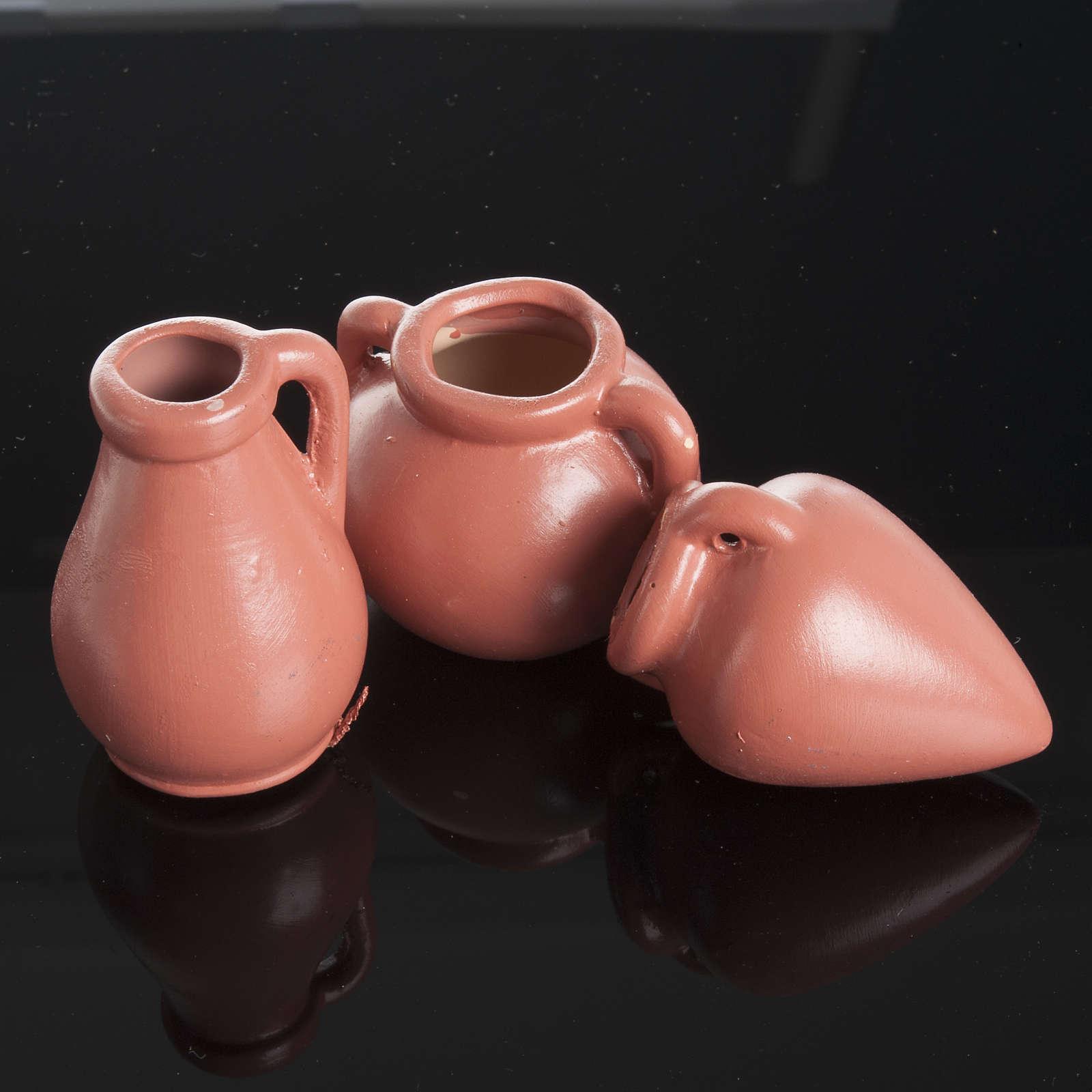 Nativity accessory, resin amphorae, set of 3pieces 4