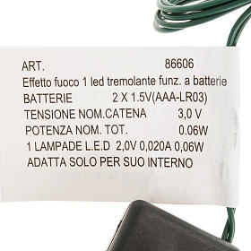 Efecto fuego a batería, 1 LED para el pesebre s2