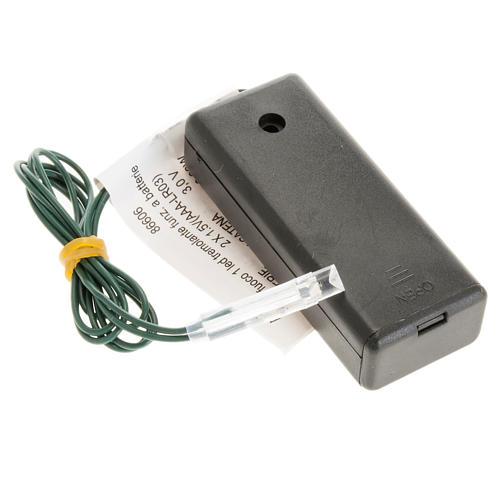 Efecto fuego a batería, 1 LED para el pesebre 1