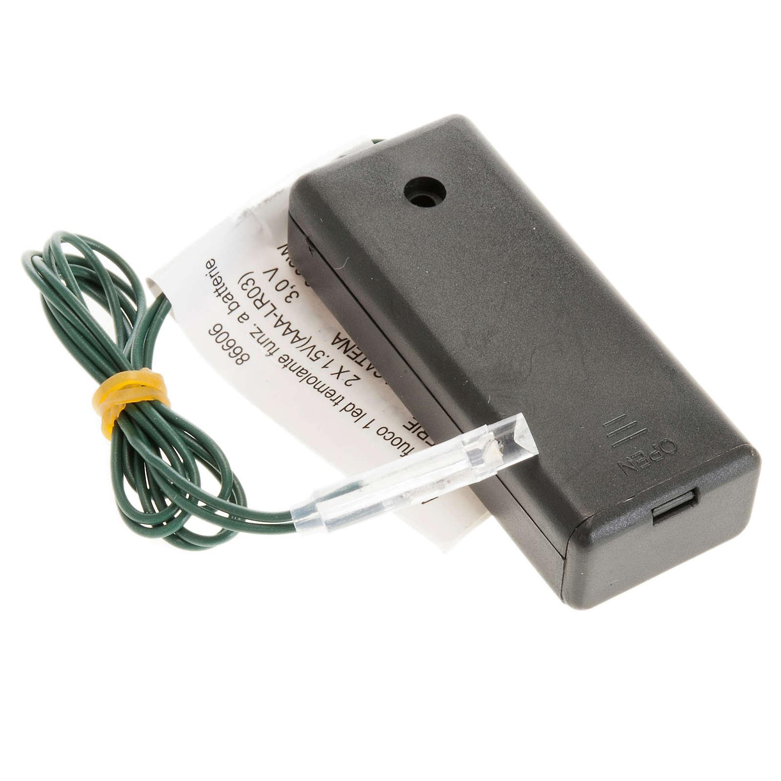 Effetto fuoco batteria 1 LED 4
