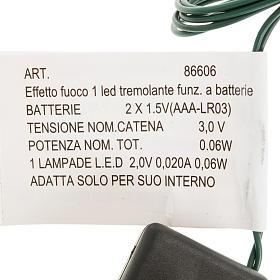 Effetto fuoco batteria 1 LED s2